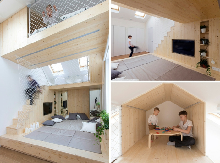 chambres créativité infinie détails ponts