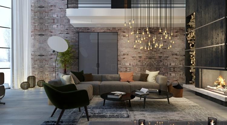 éclairage design rideaux meubles plantes