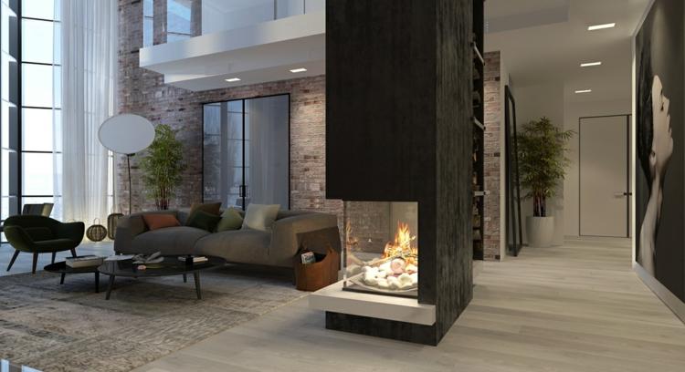 éclairage design briques chambres passage