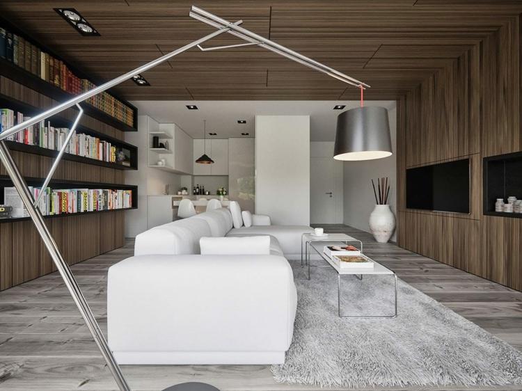 luminaires design salons tapis métaux