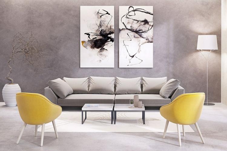 centres jaunes murs bois jeux couleur