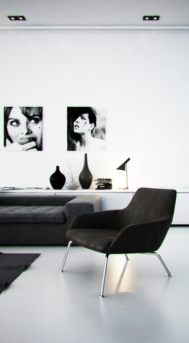 éclairage design lampes basses salon fauteuil