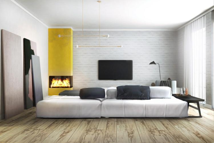 conception d'éclairage élégant jaune lent