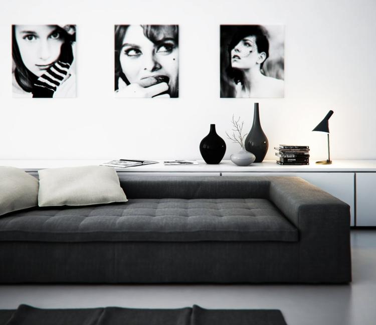 éclairage design noir salons noir
