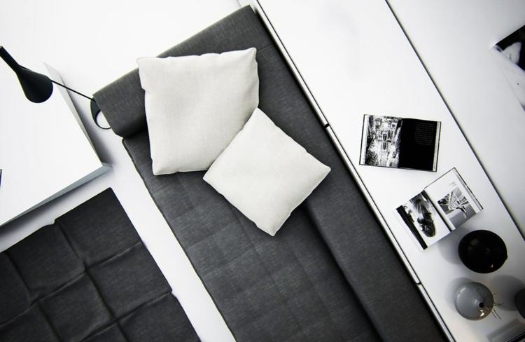 éclairage design gris noir blanc