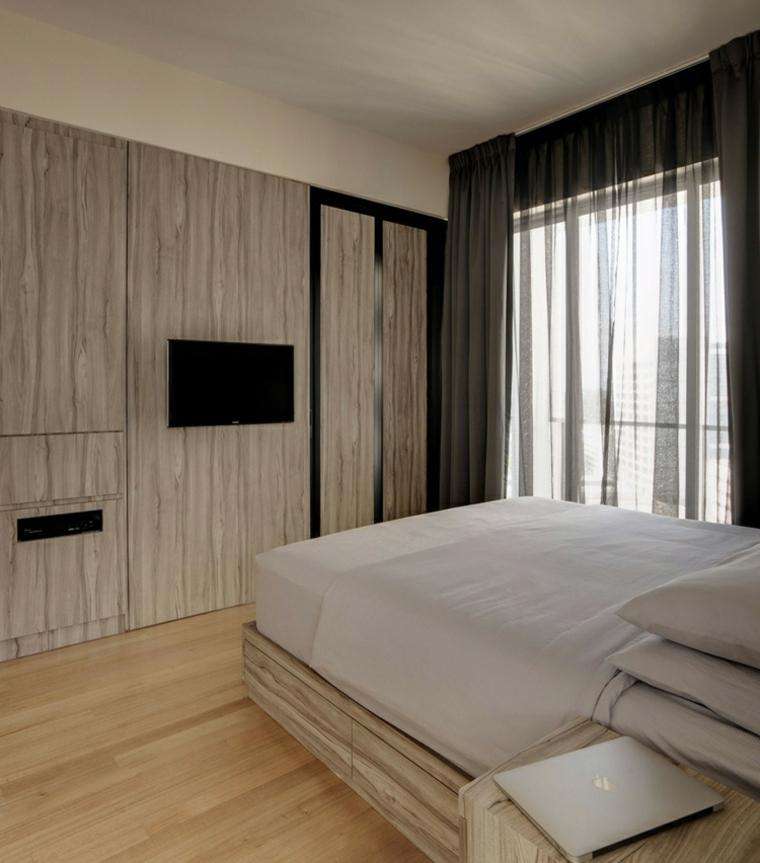 distribution d'appartements bois naturel clair