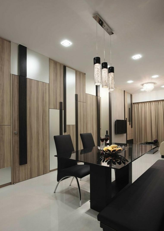 appartements de distribution noirs variantes de LED