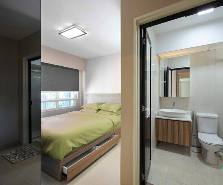 salles de bains couplées chambres styles chambres