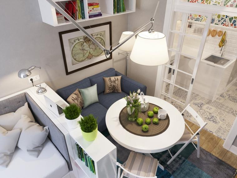 idées de table salon styles murs sacas