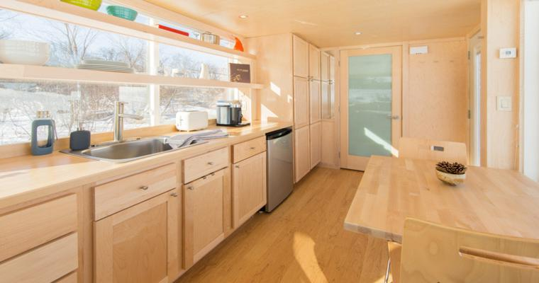 cuisine design salle a manger bois