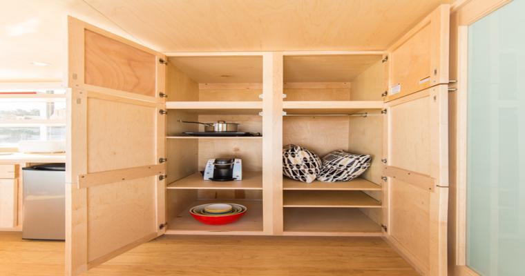 meuble cuisine intérieur garde-manger