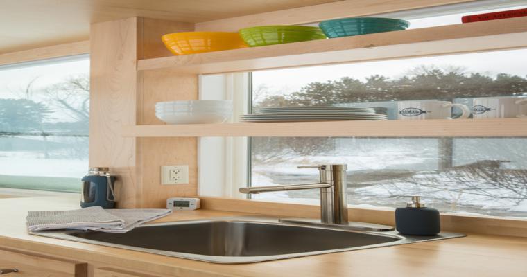 armoires de cuisine intégrées compactes