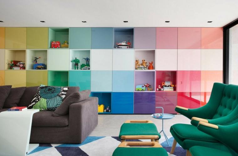 couleurs roses meubles synchronisés colorés