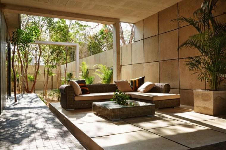 design de maison mexique meubles de jardin idées de rotin