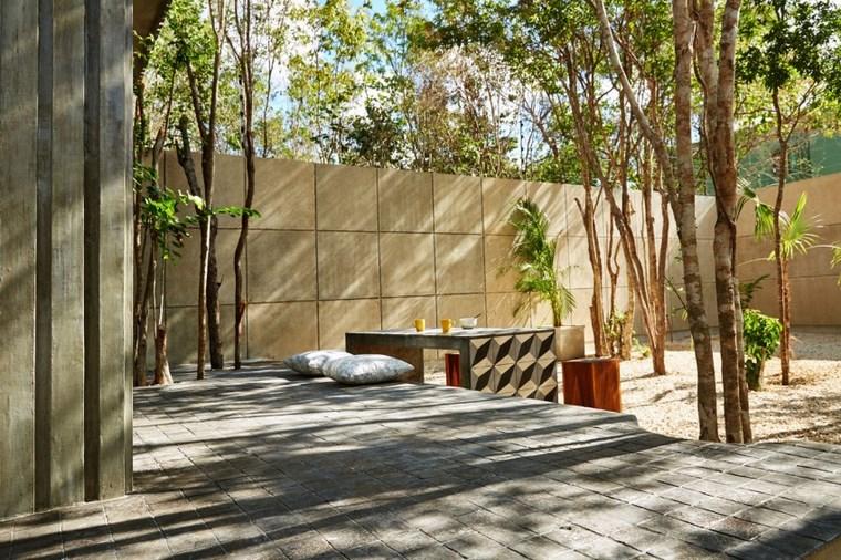 maison design mexique idées de table de jardin