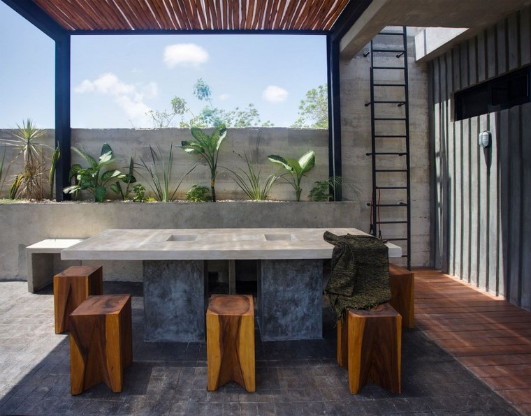 Idées de table design mexico terrasse pergola
