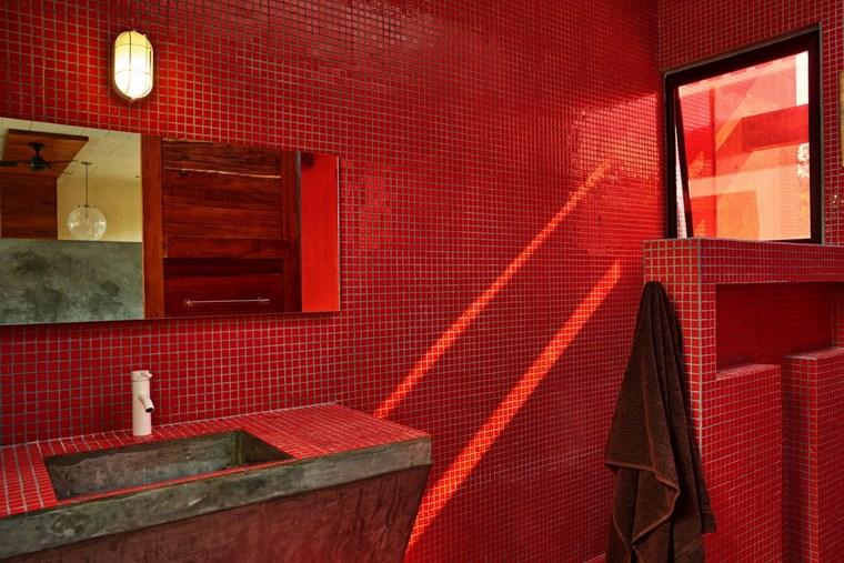 évier de salle de bain design maison mexique idées de béton