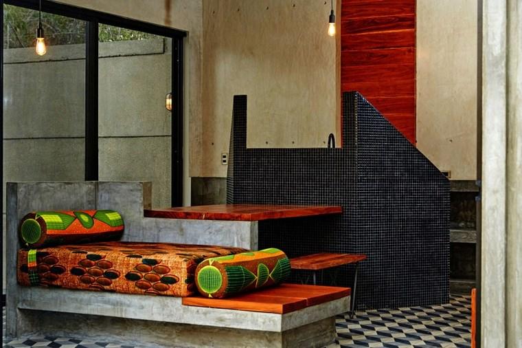 mexico home design banc coussins idées de mosaïque murale