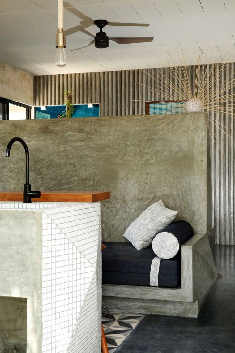 conception de maison mexique idées de banque d'îlot de cuisine