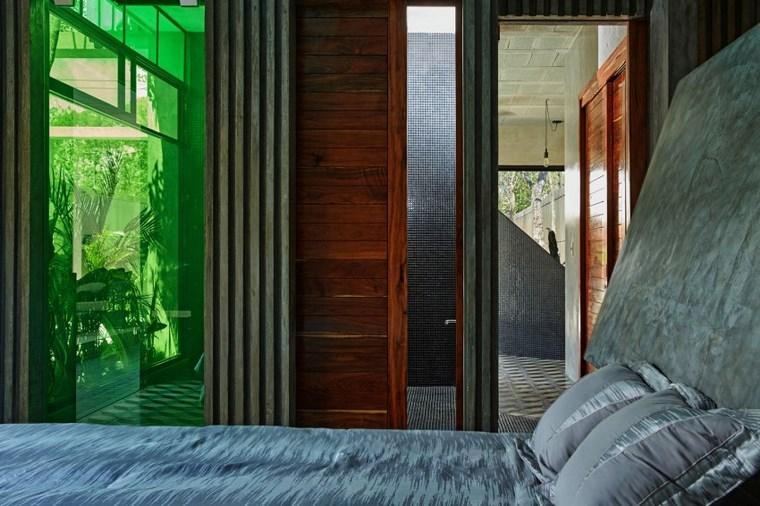 mexico maison design chambre à coucher idées de verre vert