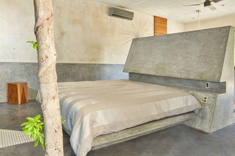 conception de maison mexique dossier de lit de chambre à coucher idées de béton