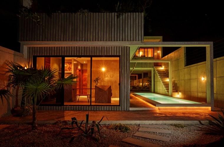 conception de maison au mexique idées de nuit illuminées