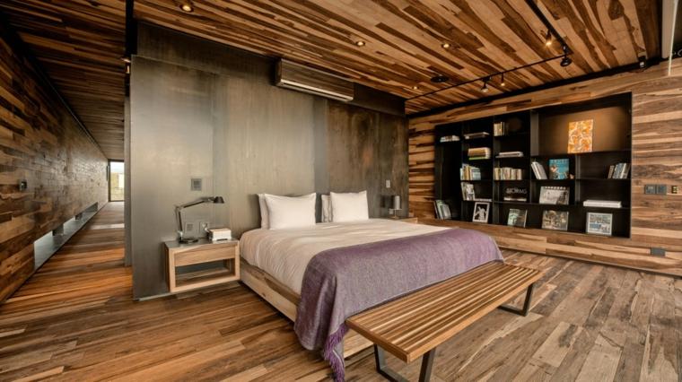 A4 étude design idées de chambre en bois moderne