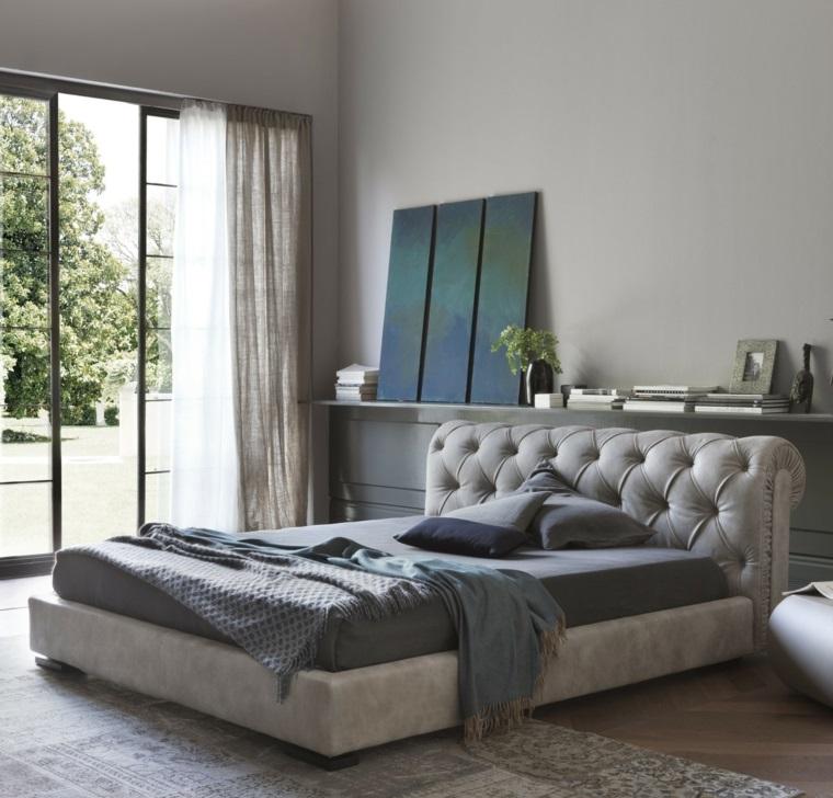 Détails et plus d'options Idées de dossier de lit gris pour chambre à coucher moderne