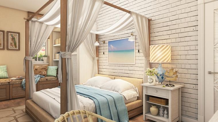 détails et plus d'options idées de lit à baldaquin chambre moderne