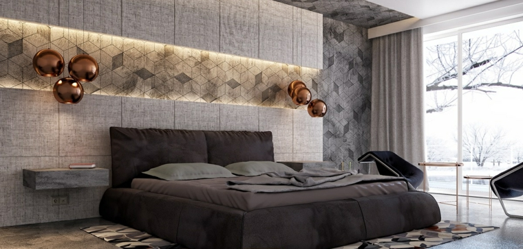 Détails et plus d'options Idées de lampes modernes en or pour chambre à coucher