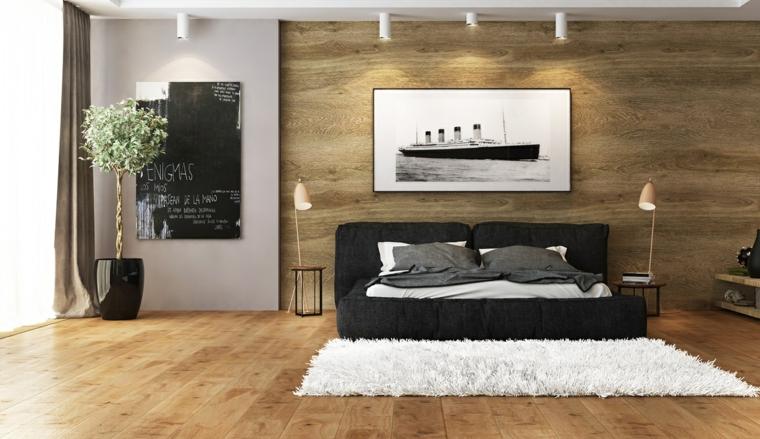 détails et plus d'options idées de pot noir chambre moderne