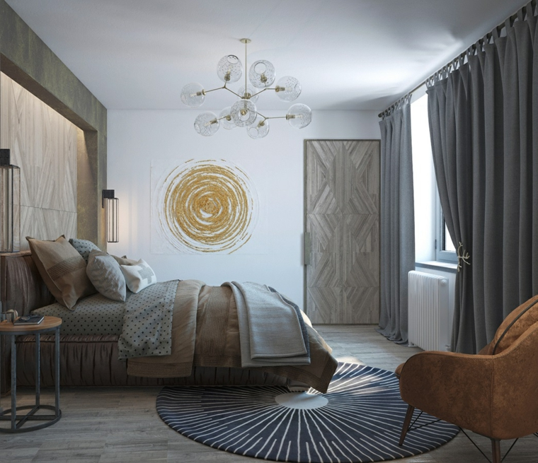 détails et plus d'options idées de mur de dessin de chambre à coucher moderne