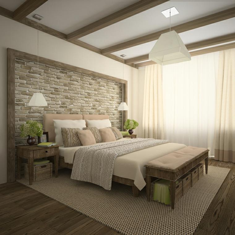 Détails et plus d'options Papier peint de chambre à coucher moderne imitant des idées de briques