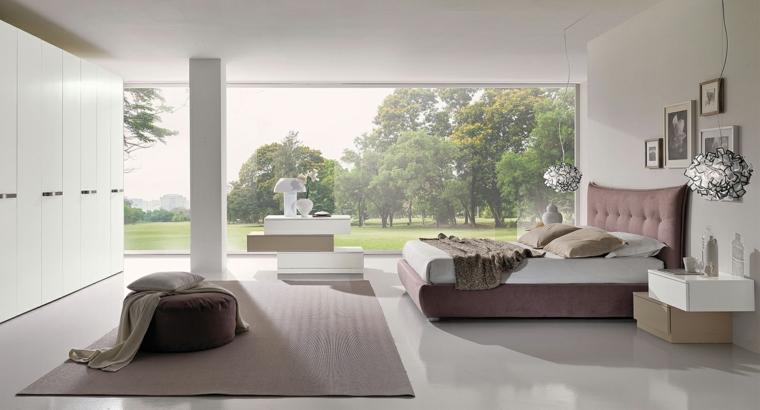 chambre moderne grand placard blanc idées