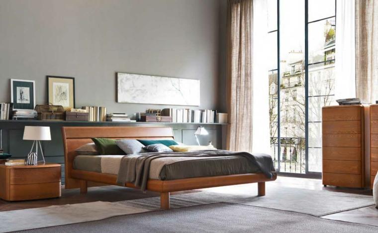 Armoire de lit de chambre à coucher moderne en bois idées de couleur naturelle