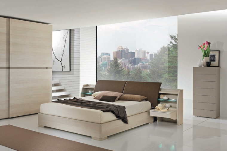 Armoires en bois de chambre à coucher modernes idées de conception simples