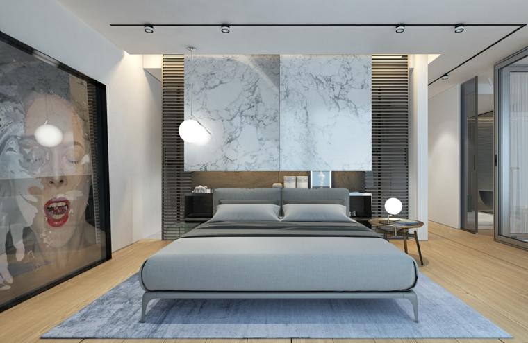 Idées de tapis gris peinture originale de chambre à coucher moderne