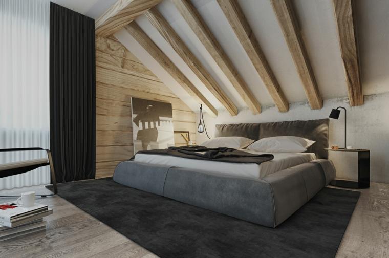 Idées de tapis noir pour chambre à coucher moderne