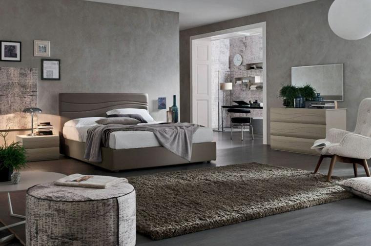 Chambre Moderne Grand Lit En Bois Idées De Fauteuil Blanc