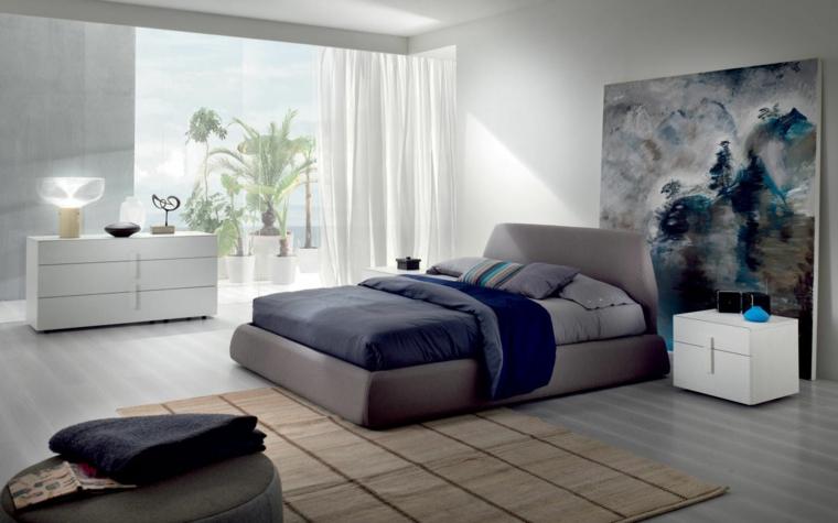 Chambre à coucher moderne grande image idées de design d'intérieur