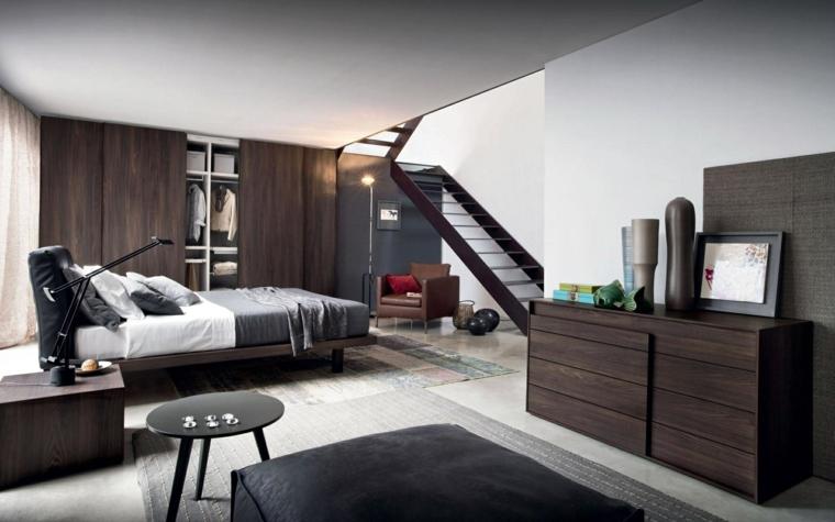 Meubles de chambre à coucher modernes en bois idées de table noire