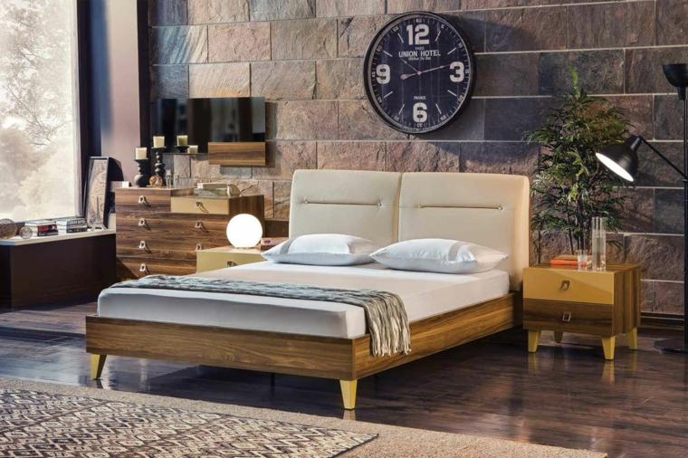 grandes idées d'horloge décorative pour chambre à coucher moderne