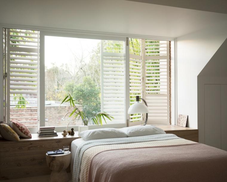 Fenêtre de chambre moderne idées de stores blancs