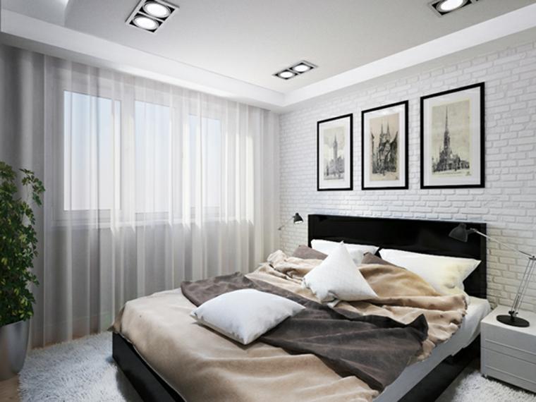 Idées de rideaux blancs pour chambre à coucher moderne