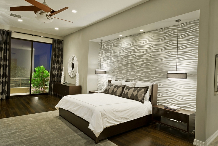 Idées de lampes murales blanches pour chambre à coucher moderne