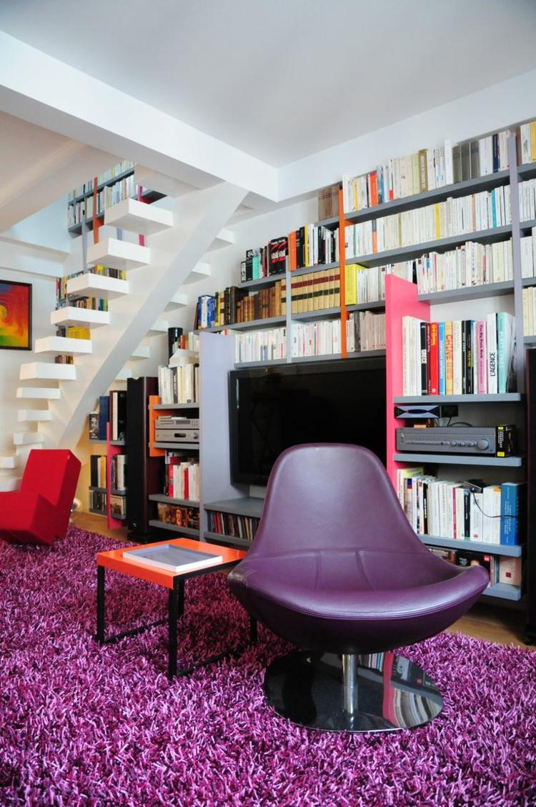 meuble tv bibliothèque intégré moderne
