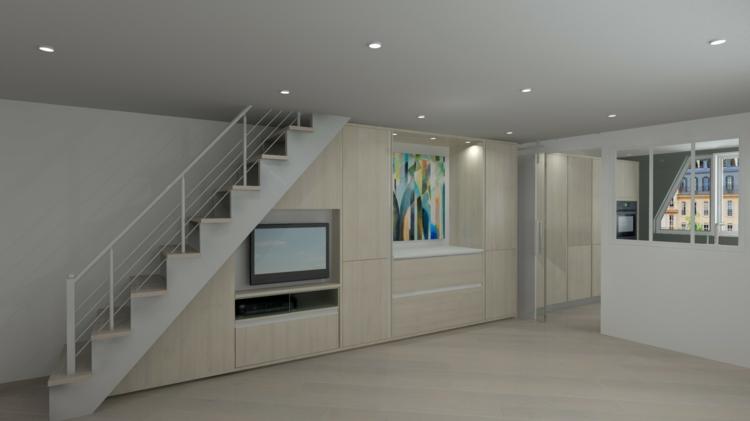 beau design intérieur blanc moderne