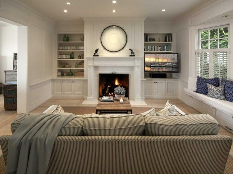 bibliothèques intégrées zones de meubles de télévision