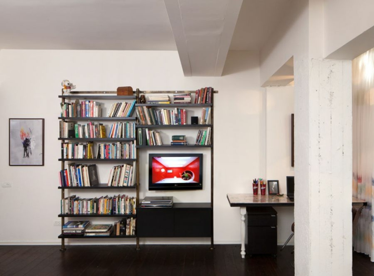 décoration salon meubles étagères