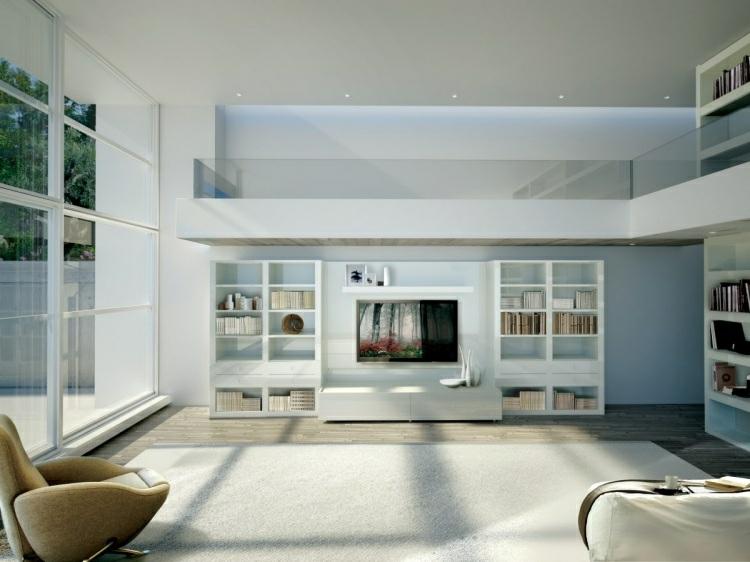 conceptions originales étagères blanches modernes
